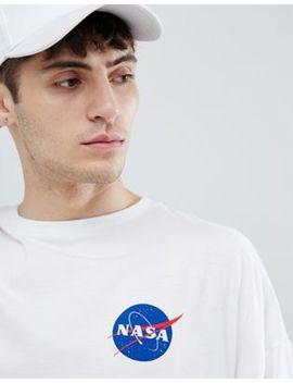 Asos Design Nasa Oversized Long Sleeve T Shirt With Brack Print by Asos Design