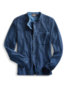 Indigo Jersey Workshirt by Ralph Lauren