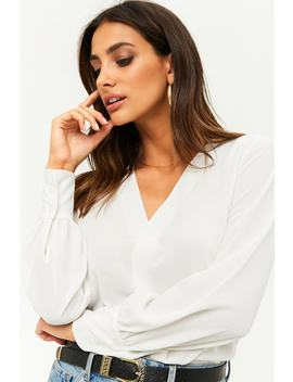 Pleat Front Blouse by Forever 21