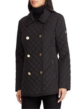 Double Breasted Quilted Coat by Lauren Ralph Lauren
