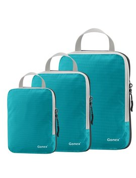 Gonex Packing Cubes, Travel Packing Organizers Luggage Compression Bags Pouches 9 Colors Choices by Gonex