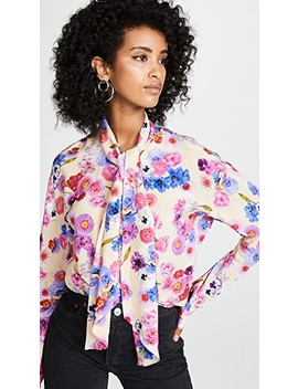 Floral Scarf Tie Blouse by Natasha Zinko