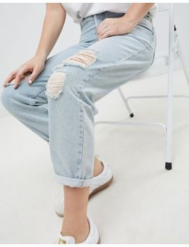 Asos Design Relaxed Boyfriend Jeans In Trinity Wash by Asos Design