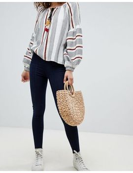 Free People Seamed Pull On Skinny Jeans by Free People