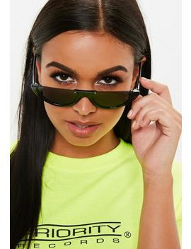 Black Half Moon Sunglasses by Missguided
