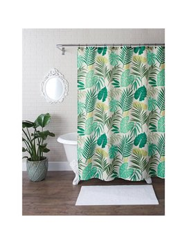 Better Homes And Gardens Tropical Palm Fabric 13 Piece Shower Curtain Set by Better Homes & Gardens