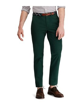 Straight Fit Flat Front Stretch Twill Chino Pants by Generic