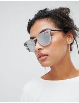 Black Phoenix Silver Round Sunglasses by Sunglasses
