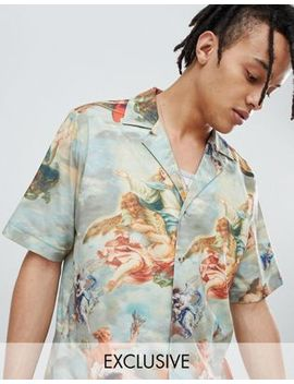 Reclaimed Vintage Inspired Printed Revere Collar Shirt by Reclaimed Vintage