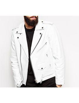 New Men Genuine Lambskin Leather Jacket Slim Fit Biker Motorcycle Jacket   Nf 6 by Nfl