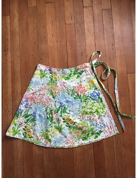 Vintage 1970s Spring Garden Wrap Skirt by Etsy