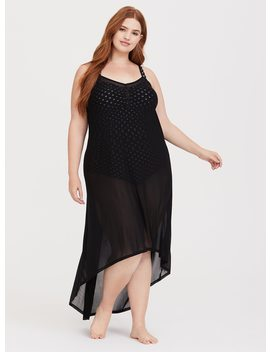 Mesh Maxi Swim Cover Up by Torrid