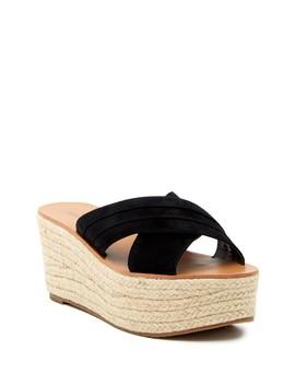 Ellis Suede Platform Sandal by Susina