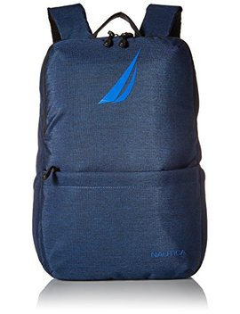 Nautica Men's Quilted Tech Usb Water Resistant Nylon Laptop Backpack by Nautica