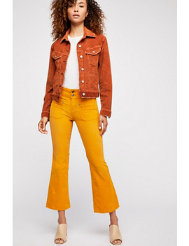 Maggie Crop Cord Flares by Free People