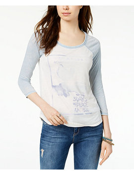 Raglan Sleeve Rock Graphic T Shirt by Lucky Brand