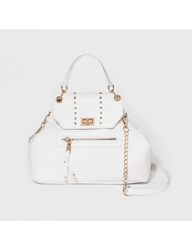 Omg! Accessories Top Handle Satchel Handbag   White by Omg! Accessories