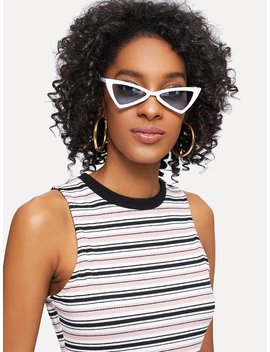Tinted Lens Cat Eye Sunglasses by Romwe