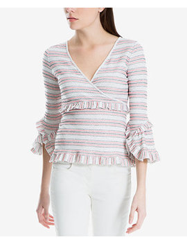 Striped Ruffle Trim Top, Created For Macy's by Max Studio London