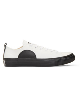 White Plimsoll Sneakers by Mcq Alexander Mcqueen