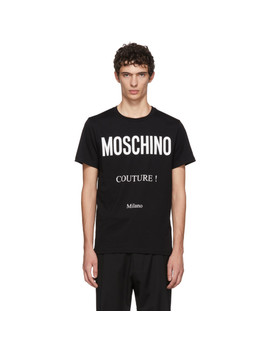 Black 'couture' T Shirt by Moschino