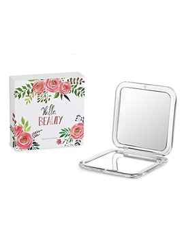 Jerrybox Compact Mirror, Double Sided 5× Magnification + 1× Mirror, Pocket Size Travel Mirror by Jerrybox