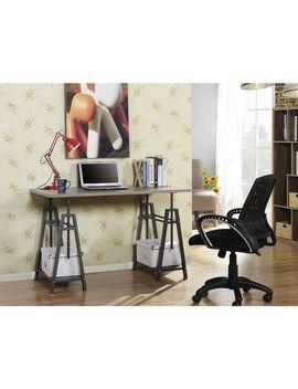Carbon Loft Ramsay Reclaimed Wood Adjustable Desk by Carbon Loft