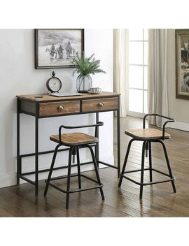 Urban Loft Breakfast Table And 2 Swival Stools by Generic