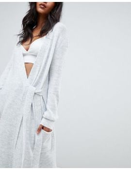 Micha Lounge Wrap Maxi Cardigan With Tie Side by Micha Lounge