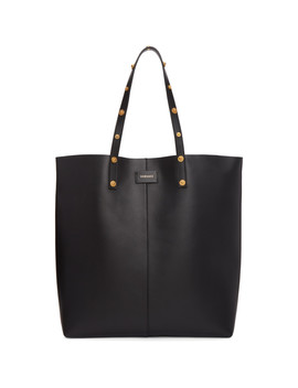Black Medusa North/South Tote by Versace