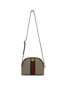 Beige Small Gg Supreme Ophidia Bag by Gucci