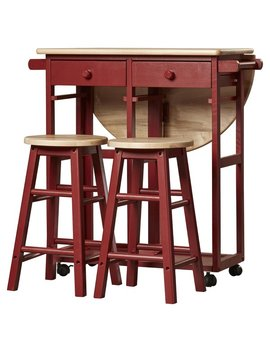 August Grove Charity 3 Piece Kitchen Island Set & Reviews by August Grove