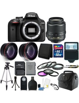 Nikon D3400 24 Mp Digital Slr Camera + 18 55mm Lens + 32 Gb Great Value Kit! by Teds