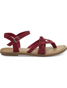 Red Suede Women's Lexie Sandals by Toms