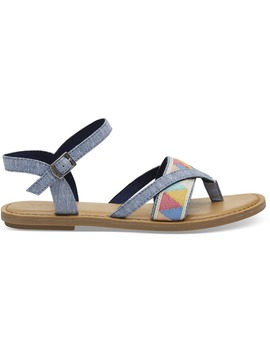 Blue Slub Chambray Women's Lexie Sandals by Toms