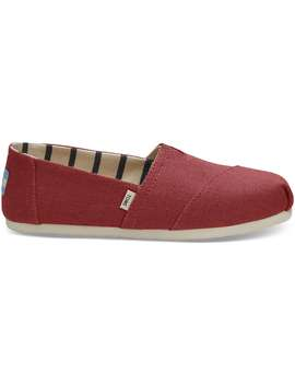 Apple Red Heritage Canvas Women's Classics by Toms