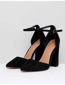 Asos Design – Pebble – Spitze High Heels In Extra Weiter Passform by Asos Design