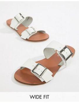 Кожаные шлепанцы для широкой стопы с пряжками Asos Design by Asos