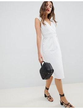 Платье в полоску с запахом Asos Design by Asos