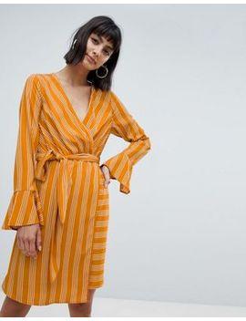Платье в полоску с запахом и поясом Vero Moda by Asos