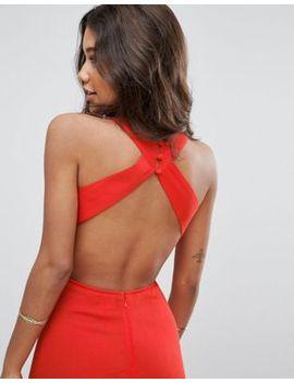 Платье макси из сжатой ткани с открытой спиной Asos by Asos