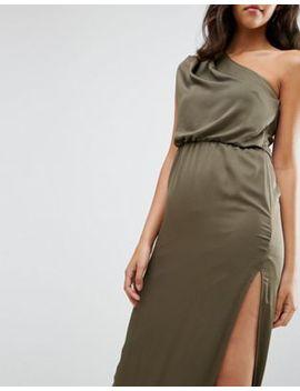 Драпированное платье макси на одно плечо Asos by Asos