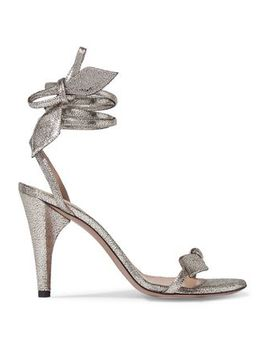 Mike Metallic Cracked Leather Sandals by ChloÉ