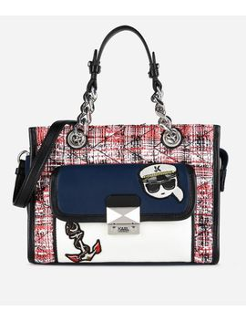 Captain Karl Tweed Mini Tote by Karl Legerfeld