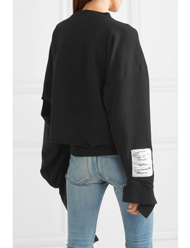 Oversized Distressed Cotton Jersey Sweatshirt by Vetements