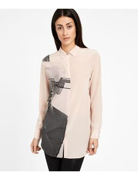 Silk Photo Print Shirt by Karl Legerfeld