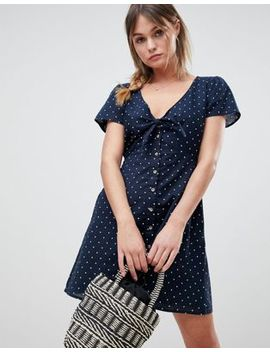 Abercrombie & Fitch Polka Dot Dress With Knot Front by Abercrombie & Fitch