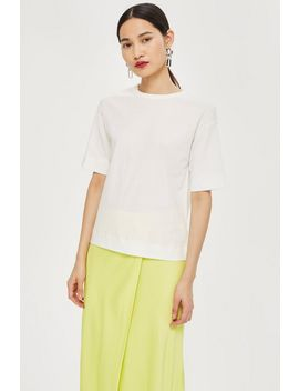 **Contrast Stitch T Shirt By Boutique by Topshop
