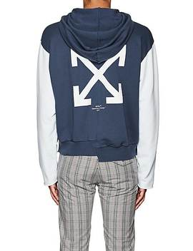 Graphic Print Cotton Hoodie by Off White C/O Virgil Abloh