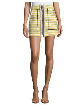 Lynden Mini Skirt W/ Zip Front by Veronica Beard